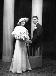 Betty & Lewis Reich on their wedding day in 1935. Betty is the granddaughter of Oliva and Damiano Genetti.