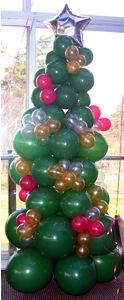 balloon xmas tree