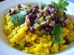 Black beans with Coconut Rice