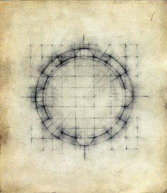 ;Earth/sky # 10 2005 Graphite, oil on paper Louisa Sartori - buried drafting!