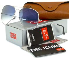 Ray-Ban Aviator Gradient Silver l Blue Gradient RB3025 003/3F 62mm
