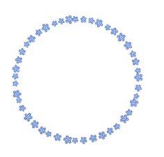 frame - tender blue flowers png by Melissa-tm