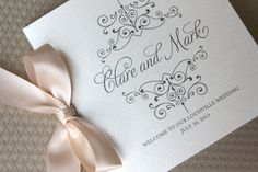 Wedding Programs or Welcome Books Wedding by lemonseedandco, $3.50