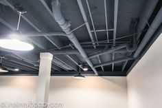 The color they use to spray the basement ceiling is nice and named in the write-up.