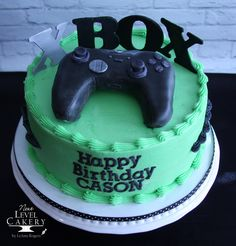 Custom cakes, special occasion cakes, wedding cakes, and cupcakes serving Olathe and greater KC area. Nintendo Cake, Xbox Cake, Video Game Cakes, Cake Videos, 8th Birthday, Birthday Ideas, Birthday Cake, Xbox Party, Black Xbox