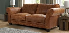 dfs brown leather