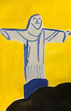 Nabeeha Mohamed 'Christ Against the Sun' 2017 watercolour on paper