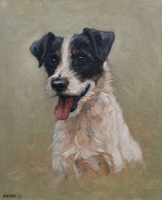 Beautiful Jack Russell Terrier dog LE fine art print from an original oil painting