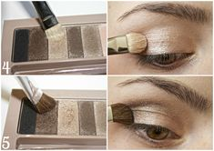 Makeup looks – Lush Makeup Ideas Brown Eyeshadow Tutorial, Lip Makeup Tutorial, Makeup Tutorials, Beauty Tutorials, Physicians Formula Eyeshadow, Physicians Formula Shimmer Strips, Pretty Makeup, Makeup Looks, Beauty Make-up