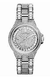 Michael Kors 'Mini Camille' Crystal Encrusted Bracelet Watch, 33mm