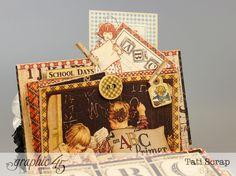 School mini Homework Station by Tati Scrap using An ABC Primer! Try the tutorial #graphic45