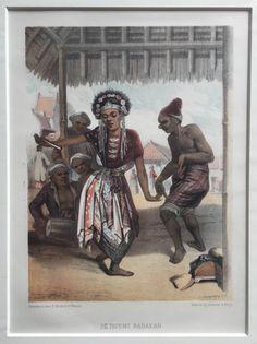 De Topeng Babakan, c.1873 De Topeng Babakan ( Ernest Hardouin ) Lithograph c.1873 Artist: Ernest Hardouin Published in: W.L. Ritter's Java, Tooneelen uit het Leven, Karakterschetsen en Kleederdragten van Java's Bewoners ( Java's residents, their...