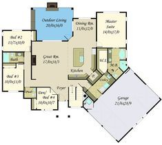 Exciting and Exclusive Craftsman House Plan - 85156MS floor plan - Main Level