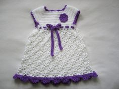 Crochet Baby Girl dress...