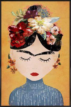 Frida en Affiche sous cadre standard par treechild | JUNIQE