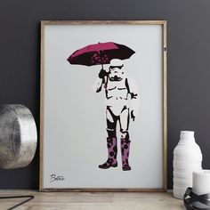 Storm er lei av regnet! Plakaten kan kjøpes på www.gallerome.com. Pris er 890 kr ink. frakt.