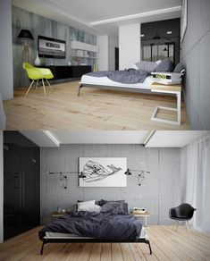 Finally, this stylish bedroom is just trendy enough for comfort but doesn't go overboard.
