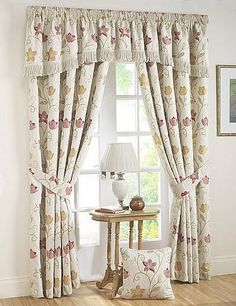 Autumn Canterbury Ready Made Curtains An Elegant And Traditional Curtain Design That Includes A Fl Pattern Online