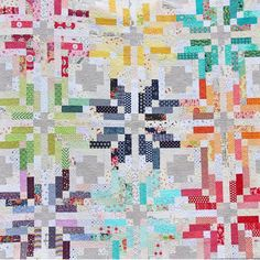 Scrappy Norway Quilt using @thimbleblossoms pattern