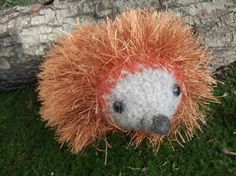 Hedgehog plush hand knit felted stuffed animal by iFeltFanciful