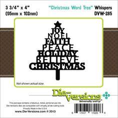 Die-Versions Whispers Die Christmas Word Tree