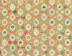 Living room rug designed by Alexander Girard: each symbol bears some special…