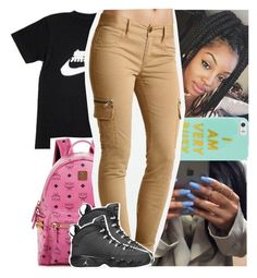 """: Tuesday"" by theyknowtyy ❤ liked on Polyvore featuring NIKE, MCM, BaubleBar, Victoria's Secret and Retrò"