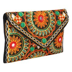 Cute Handmade Ethnic Embroidered Banjara foldover Clutch Purse-Sling Bag-Cross Body Bag -- Read more at the image link.-It is an affiliate link to Amazon. Foldover Clutch, Clutch Purse, Crossbody Bag, Accessories Store, Women Accessories, Thread Chains, Cosmetic Items, Casual Bags, Handicraft