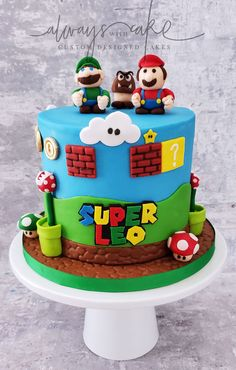 Celebration Cakes-Page 1 Mario Birthday Cake, Twin Birthday Cakes, Superhero Birthday Cake, Super Mario Birthday, 18th Birthday Cake, Mario Bros Y Luigi, Mario Bros Cake, Mario Bros., Mario Party