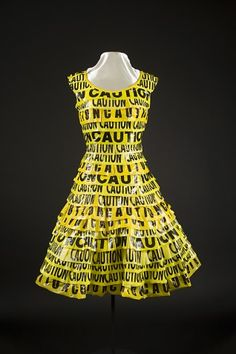 caution tape dress...because I'm a cop's daughter
