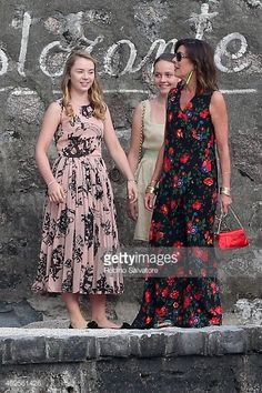 Princess Alexandra of Hanover and Princess Caroline of Monaco and Hanover are sighted during the wedding celebrations of Pierre Casiraghi and Beatrice Borromeo on July 2015 in Isola Madre, Italy. Charlotte Casiraghi, Andrea Casiraghi, Beatrice Casiraghi, Beatrice Borromeo, Princesa Charlene, Estilo Real, Celine, Grace Kelly, Royal Dresses