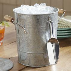 Birch Lane Galvanized Ice Bucket with Scoop