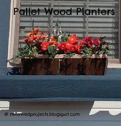 Reduce, Reuse, Renewed: Pallet Wood Planters