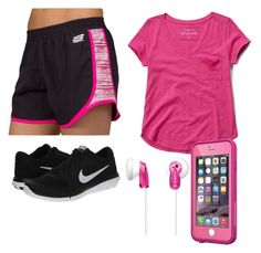 music and running by kyleechristopher on Polyvore featuring polyvore moda style Abercrombie & Fitch Skechers NIKE Sony LifeProof fashion clothing