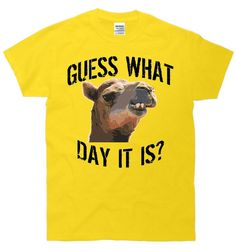 New Custom Guess What Day It Is Camel Hump Day Wednesday Funny Humor Tee T-Shirt on Etsy, $15.00