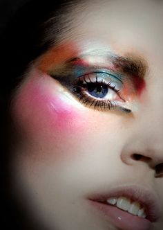 Rainbow eye make up