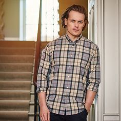 Laughing with you NEVER at you — wardley10: surana17: SAM HEUGHAN BARBOUR SHIRTS...