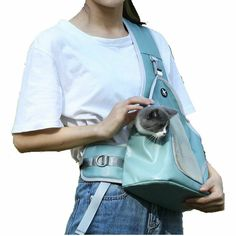 What you get: 1 pc bag tote carrier. Sling Carrier, Dog Carrier, Pet Dogs, Dog Cat, Pets, Dog Sling, Princess Hat, Dog Backpack, Pet Fashion