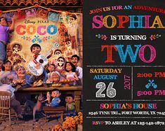 Coco invitación, cumpleaños de Coco, Coco partido, Disney Coco invitación