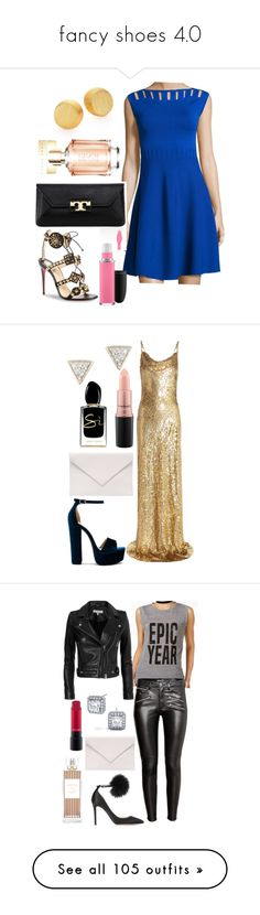 """""""fancy shoes 4.0"""" by fcharese ❤ liked on Polyvore featuring Milly, Tory Burch, Christian Louboutin, MAC Cosmetics, Stephanie Kantis, HUGO, Michael Kors, Steve Madden, Verali and Giorgio Armani"""