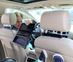 2GoTablet iPad Holder for the Car- mount between headrests for full viewing in back seat
