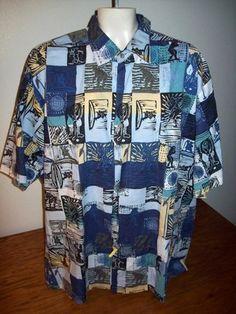 JOHN SEVERSON KAHALA surfer golf aloha Hawaiian shirt men XL tapa