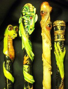 polymer clay wands by Misty Oakley