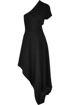 Rosetta Getty | One-shoulder stretch-ponte midi dress | NET-A-PORTER.COM