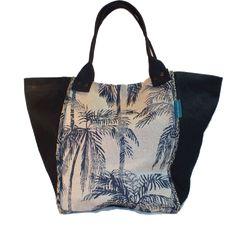 Caba palmera Printing On Fabric, Zipper, Tote Bag, Shop, Prints, Handmade, Bags, Accessories, Fashion