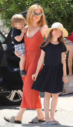 Doting mother:She's enjoyed a successful Hollywood career while juggling her responsibilities as a mother, but Isla Fisher admits doesn't want to work more because she loves being at home with her children