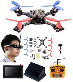 Mini Actual-time FPV DIY HD Video Digital camera Racing Quadcopter Drone Equipment with [ VR Glasses ][ LCD Monitor]