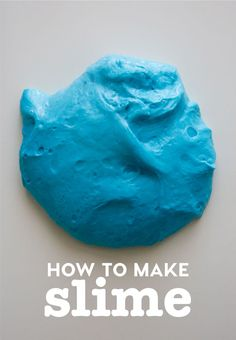 How to make slime - a fluffy slime recipe to try out for a fun kids activity! from www.thirtyhandmadedays.com