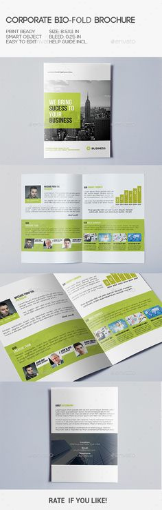 Corporate Bi-Fold Brochure Tempalte #design Download: http://graphicriver.net/item/corporate-bifold-brochure/10355226?ref=ksioks
