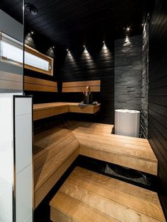38 Awesome Home Sauna Design Ideas - Popy Home Modern Master Bathroom, Bathroom Spa, Small Bathroom, Sauna Shower, Outdoor Sauna, Sauna Design, Steam Sauna, Sauna Room, Spa Rooms
